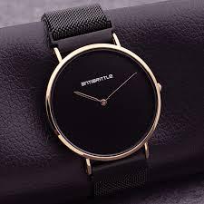 fashion japan quartz luxury black ultra thin man watch rose gold woman simple leather magnet mesh