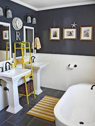 grey and yellow bathroom. creative bathroom storage ideas grey and yellow h