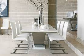 image of white marble dining table