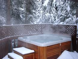 The most important tip for enjoying your hot tub or spa in the winter is  keeping your hot tub free and clear of snow and ice. Use a soft bristle  broom to ...