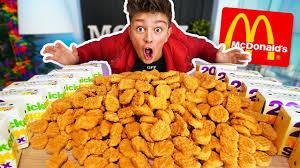 1000 en nuggets challenge 200 000 calories breaking mcdonalds world records