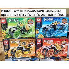 Lắp ráp xếp hình LEGO NINJAGO 68110 : SIÊU XE MÁY CỦA CÁC CHIẾN BINH NINJA  chính hãng