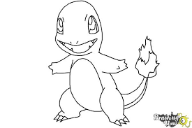 Small Picture How to Draw Pokemon Charmander DrawingNow