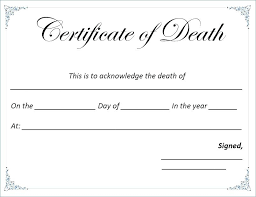 Death Certificate Template Anatomy Talent Show Free Elementary