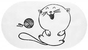 СПА-<b>коврик для ванной Fora</b> Happy Cats Клубок 390х690 мм ПВХ ...
