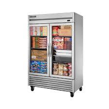 true t 49fg hc fgd01 49 cu ft two glass door freezer