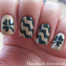 Angel Love Nail Designs Handtastic Intentions Nail Art Chevrons And Clovers