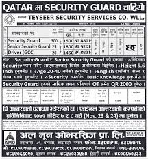 Security Guard & Driver Jobs In Qatar