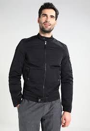 guess military aviator er jacket men clothing jackets lightweight jet black frost