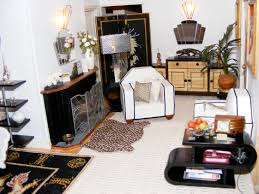 An Art Deco Dolls House Made And Furnished By Artisans By Jazz - Dolls house interior
