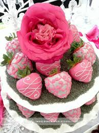 strawberries dipped in pretty pink would love this at valentines day