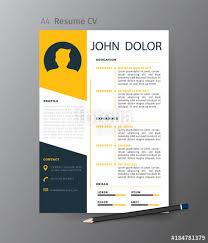 Resume Modern Design Clean Modern Design Template Of Resume Or Cv Vector Illustration