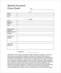 Facsimile Fax Cover Sheet 8 Medical Fax Cover Sheet Templates Pdf Word Free