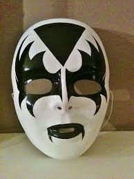 Cool Mask Designs Kiss Mask Handpainted Kiss Mask Face Painting For Boys