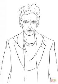 Small Picture The Twelfth Doctor from Doctor Who coloring page Free Printable