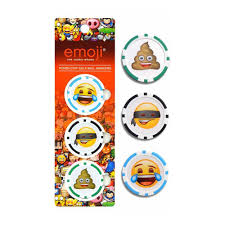 ball markers. emoji poker chips (3pk ball marker) markers