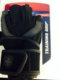 Harbinger 1250 Training Grip Wrist Wrap Weight Lifting Gloves Size Xl New L43