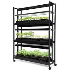 Hydroponic Light Stand Led Grow Light Stand Heavy Duty 3 Tier With Plant Trays