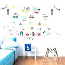 nautical wall decal stickers nursery theme map