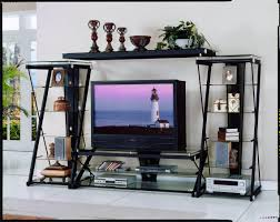 homelegance metal and glass  inch w tv stand t