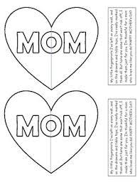 Half Heart Template Mom Heart Template By Primary Peanuts Teachers Pay Teachers