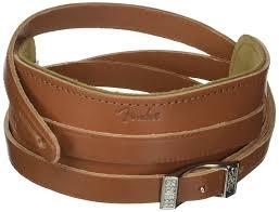 details about genuine fender deluxe vintage adjustable leather guitar strap brown