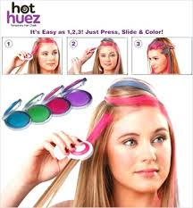 hot hues hot hues temporary hair color washes off with the use of its safe  to