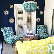 yellow and turquoise blue patio with ro sham beaux malibu turquoise outdoor chandelier
