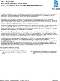 Service Guidelines Hcfc R22 To Hfc Refrigerant Blends Pdf