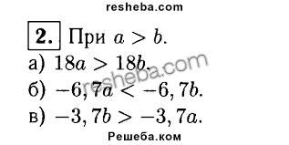 ГДЗ по алгебре для класса Жохов В И Контрольные работы  2 Известно что a>b Сравните а 18a и 18b