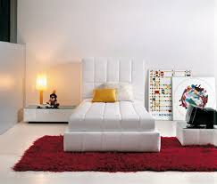 Modern and Elegant Squaring Bed Design for Home Interior Furniture by  Guiseppe Vigano  White Single