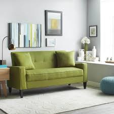 Furniture: Linen Sofa Elegant Handy Living Ellie Apple Green Linen ...