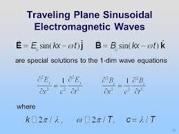 traveling plane sinusoidal electromagnetic waves