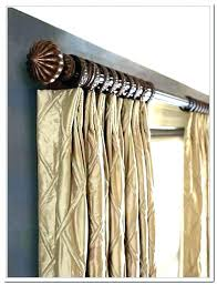 decorative curtain rods wood