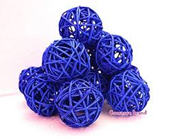 Decorative Sphere Balls Adorable Amazon Christmas Gifts Small Blue Rattan Ball Wicker Balls