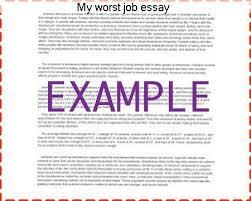 my worst job essay essay service my worst job essay