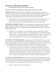 six parts to a rogerian argument