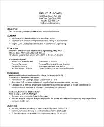 Building Engineer Resume Awesome 48 Mechanical Engineering Resume Templates PDF DOC Free