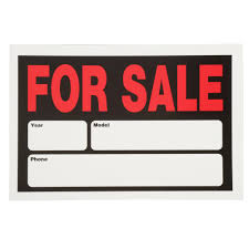 auto for sale sign everbilt 8 in x 12 in plastic auto for sale sign 31704 the home