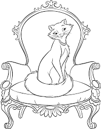 Aristocats Kittens Coloring Pages Lion King Disney Coloring
