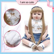 <b>70cm</b> Handmade <b>Baby</b> Girls Dolls Realistic Soft <b>Silicone Reborn</b> ...