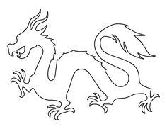 template of a dragon dragon pattern use the printable outline for crafts creating