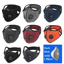 WEST BIKING <b>Sport Face Mask Activated</b> Carbon Filter Dust Mask ...