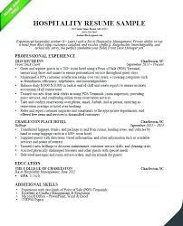 Example Hospitality Resume Amazing Hospitality Resume Example Impressive Resume For Hospitality Job