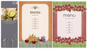 Word Restaurant Menu Templates Free Restaurant Menu Templates For Microsoft Word Salonbeautyform Com