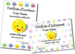 Printable Awards Templates Cute Printable Certificate Templates For Kids