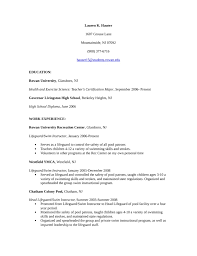 swim instructor resume - Resume For Lifeguard