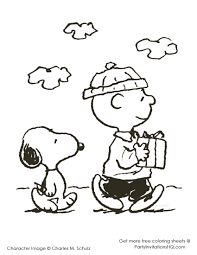 Charlie Brown And Snoopy Christmas Coloring