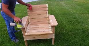 wood diy outdoor chair build