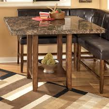 Counter Height Bistro Table Set Signature Design By Ashley Lacey Faux Marble Square Counter Height